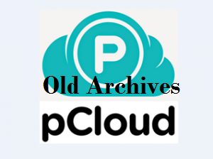 pCloud old archives