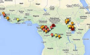 ebola outbreak map
