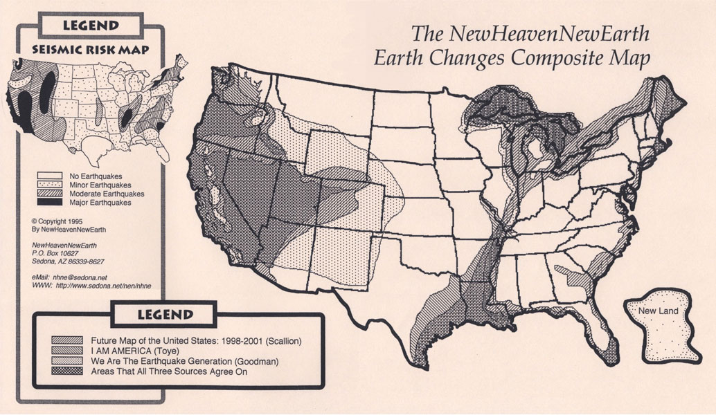 US NAVY MAP Of The FUTURE Is This NOW THE REAL SIGNS OF TIMES US - Map of us after new madrid earthquake