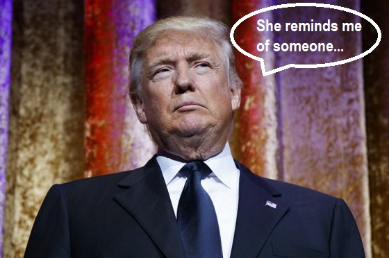 Trump - She reminds me of someone