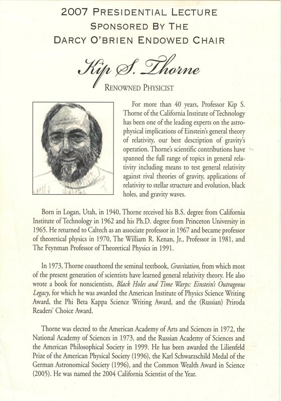 Kip Thorne 2007 lecture resized
